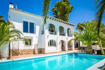 Villa Angeles Blanco, Moraira, Costa Blanca, Spain