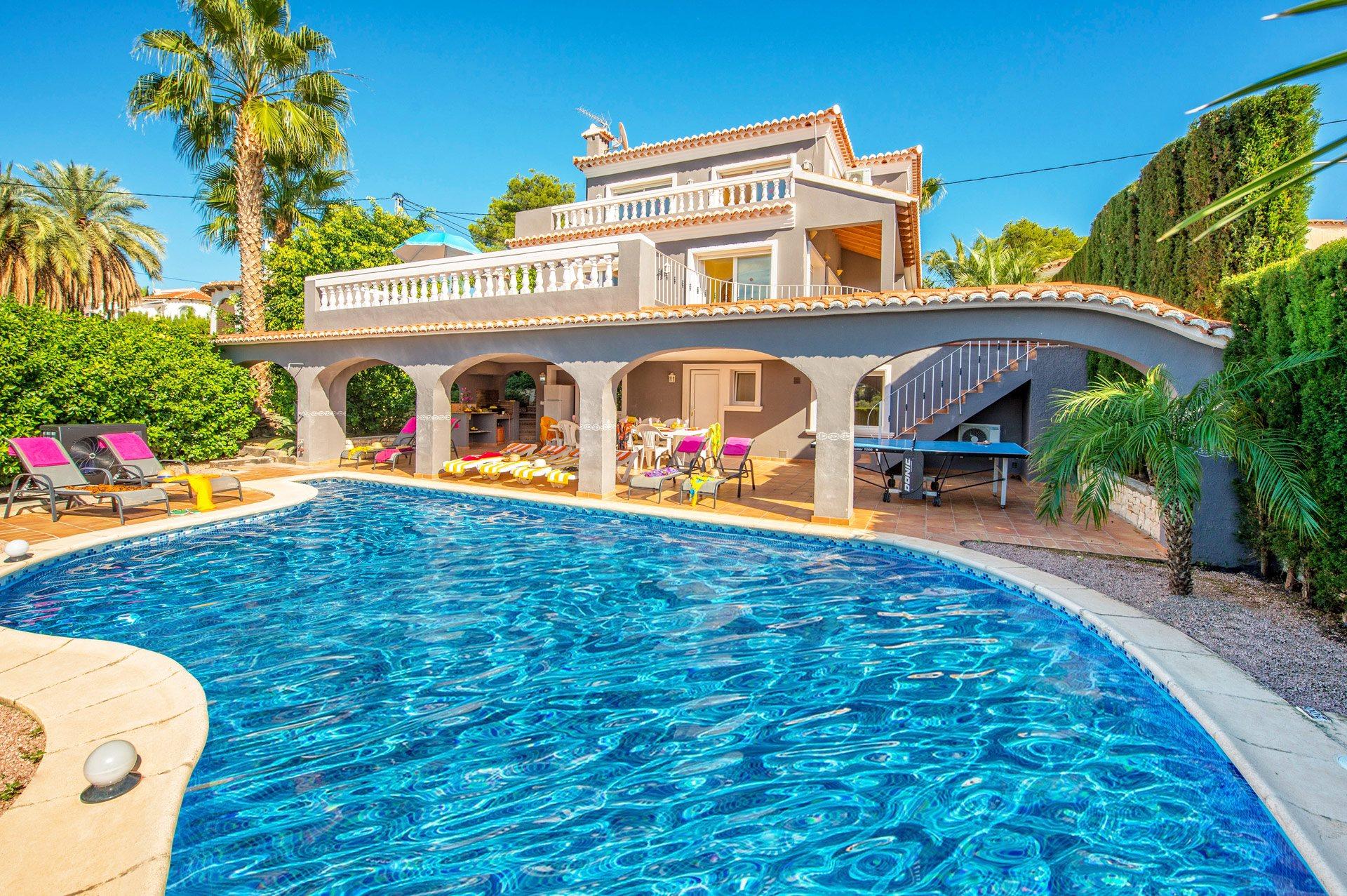 Villa Sueno Blanco, Moraira, Costa Blanca, Spain