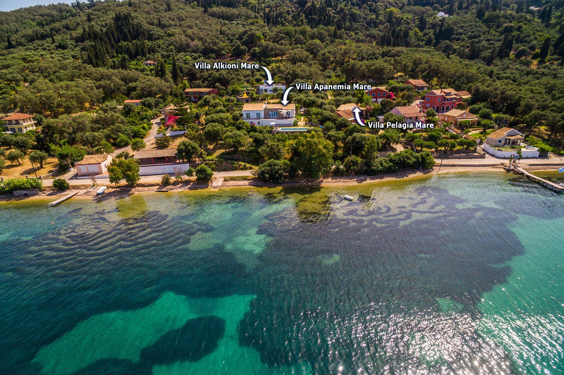 Villa Apanemia Mare In Boukari Corfu Villa Plus
