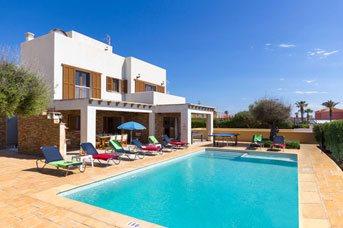 Villa Ibiza, Calan Forcat, Menorca, Spain
