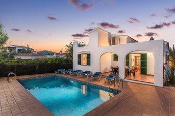 Villa Nina, Playa de Fornells, Menorca, Spain