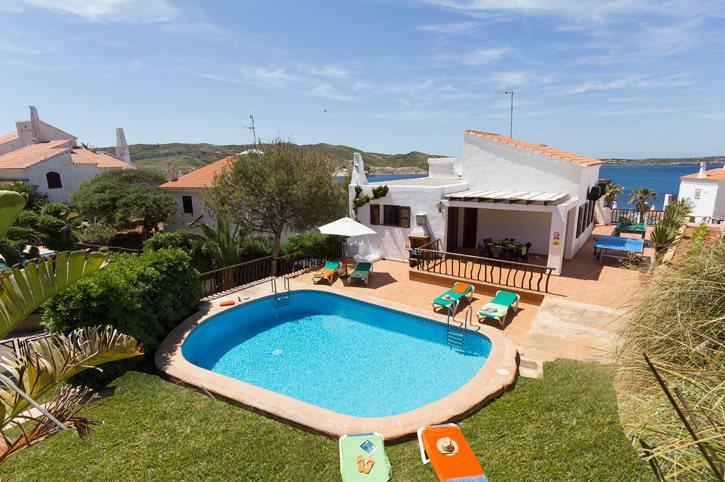 Villa Playa Cristina, Playa de Fornells, Menorca, Spain