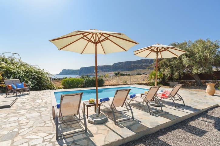 Villa Aqua Blu, Lindos, Rhodes, Greece