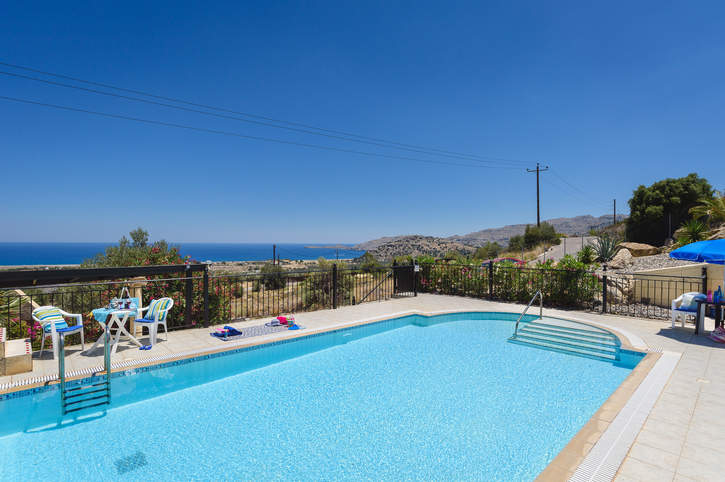 Villa Little Blue, Kalathos, Rhodes, Greece