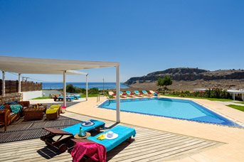 Villa Navarone Bay View, Lindos, Rhodes, Greece